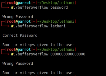 Buffer Overflow – Lethani